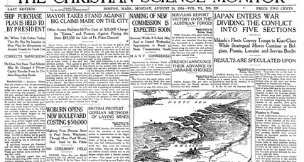 From the Monitor archives: Japan enters World War I
